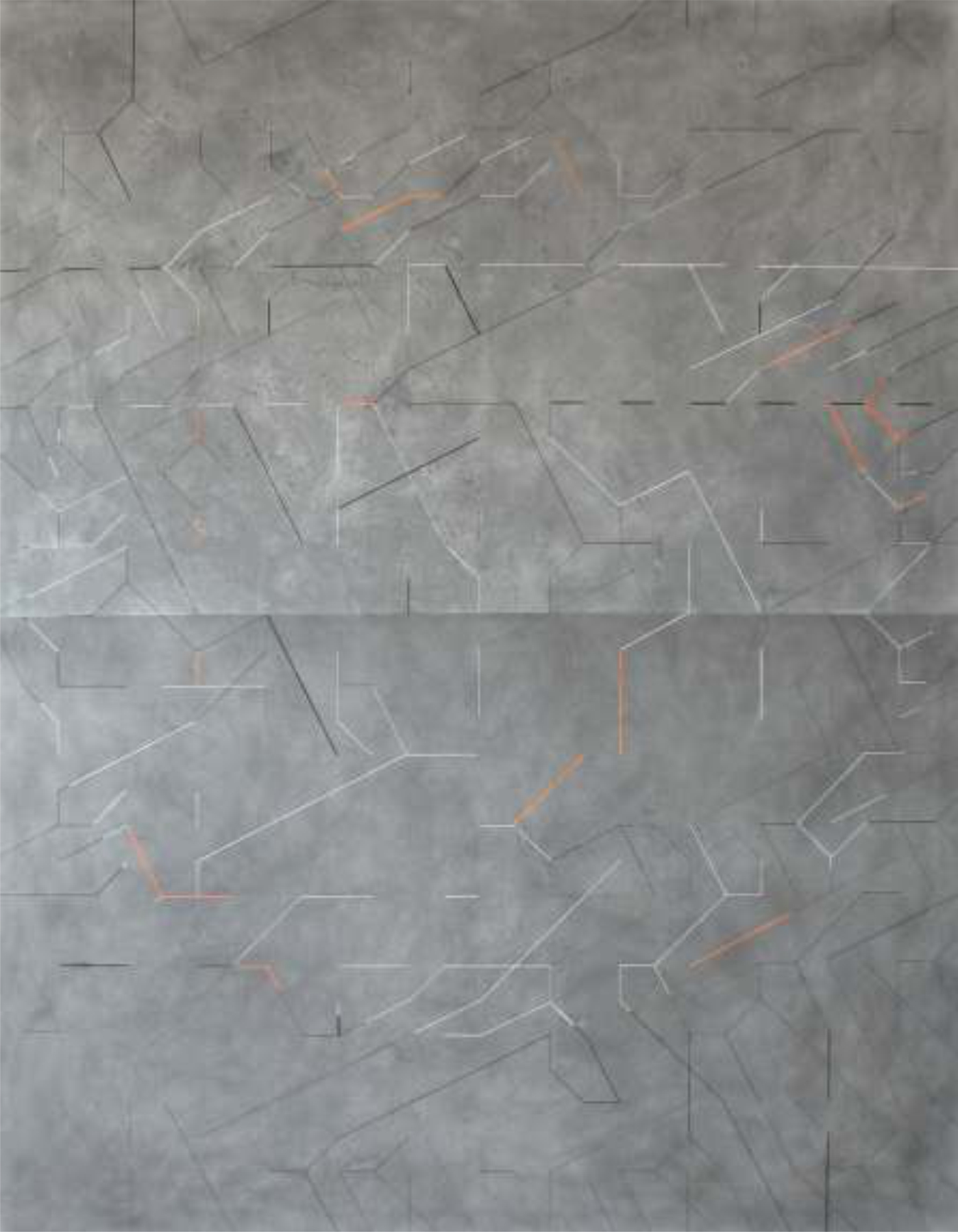 cosmografía 1 140x180 cm. Técnica mixta sobre tela.