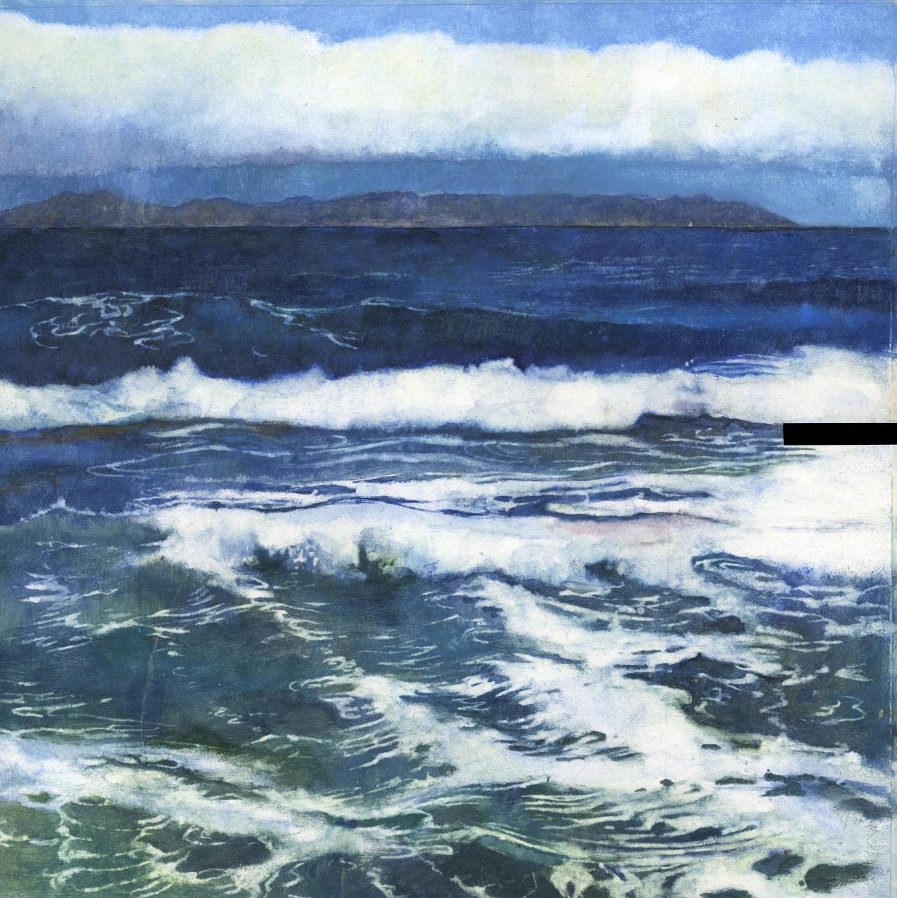 """Jordi Garriga """"El Mar"""" Acuarela sobre papel 50 x 50 cm."""