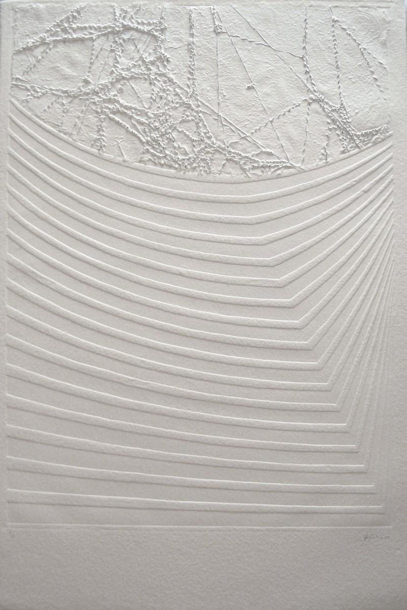 EXPANSIÓN K Gofrado y papel artesanal sobre papel Eskulán de 700 gr/m2. 90 x 60 cm.