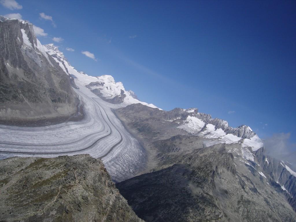 Gletscher Überflug