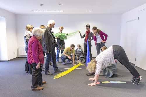 Interaktive Gruppenübung in einem TZI Kurs