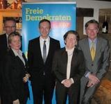 v.l.n.r.: Prof. Dr. Martin Kaschny, Karolin König-Kunz, Dr. Volker Wissing, Monika Becker, Herbert Pechmann