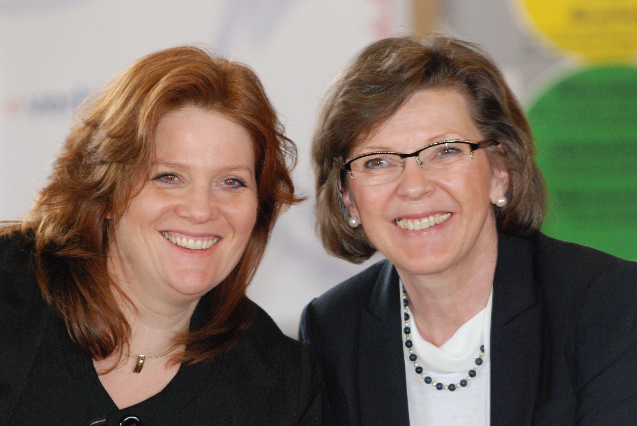 Sandra Weeser (Bundestagskandidatin und Monika Becker (MdL)