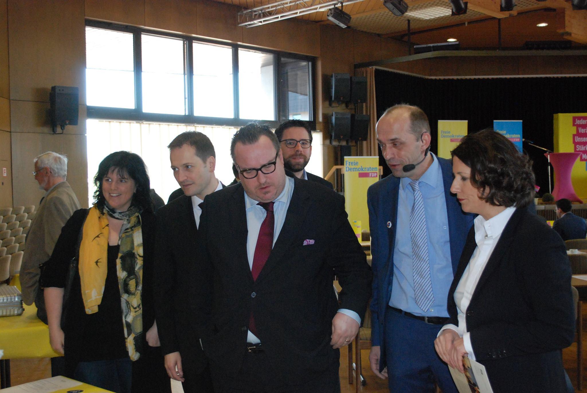 Andy Becht (Staatssekretär) und Alexander Buda (Bezirksvorsitzender) im Gespräch