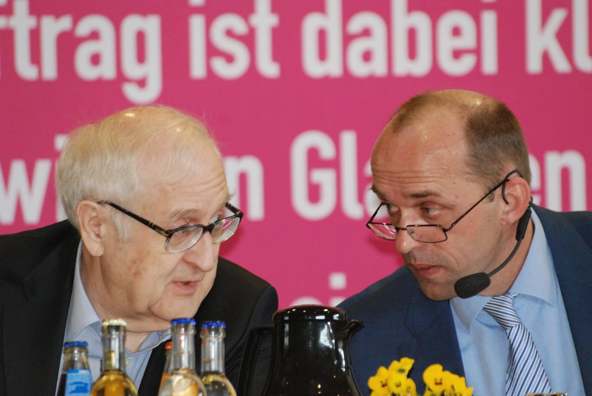 Rainer Brüderle (Wirtschaftsminister a.D.) und Alexander Buda (Bezirksvorsitzender)