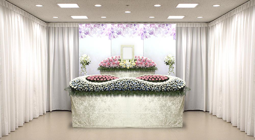 家族葬アレンジ祭壇「抱擁」