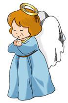無宗教の妖精が祈る姿