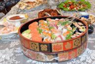 「家族葬」で寿司の写真