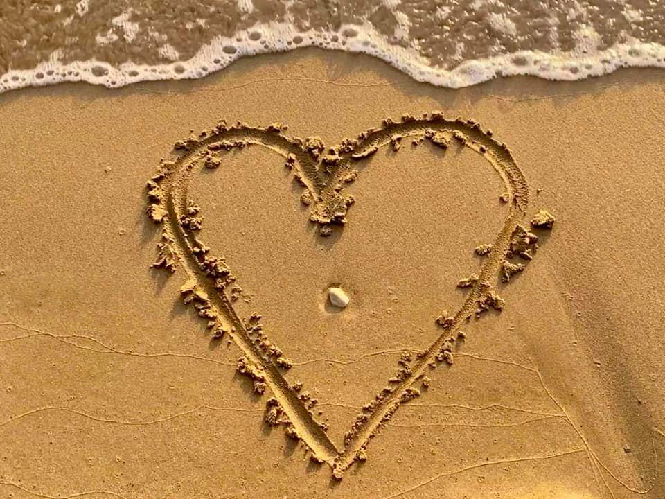 Ein paar GLÜCKS-HERZ - Perlen von meinem Urlaub am Meer für dich