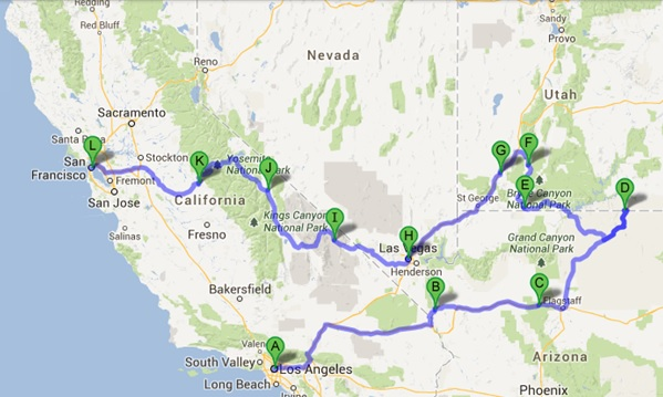 USA - Grand Tour of the West (2013)