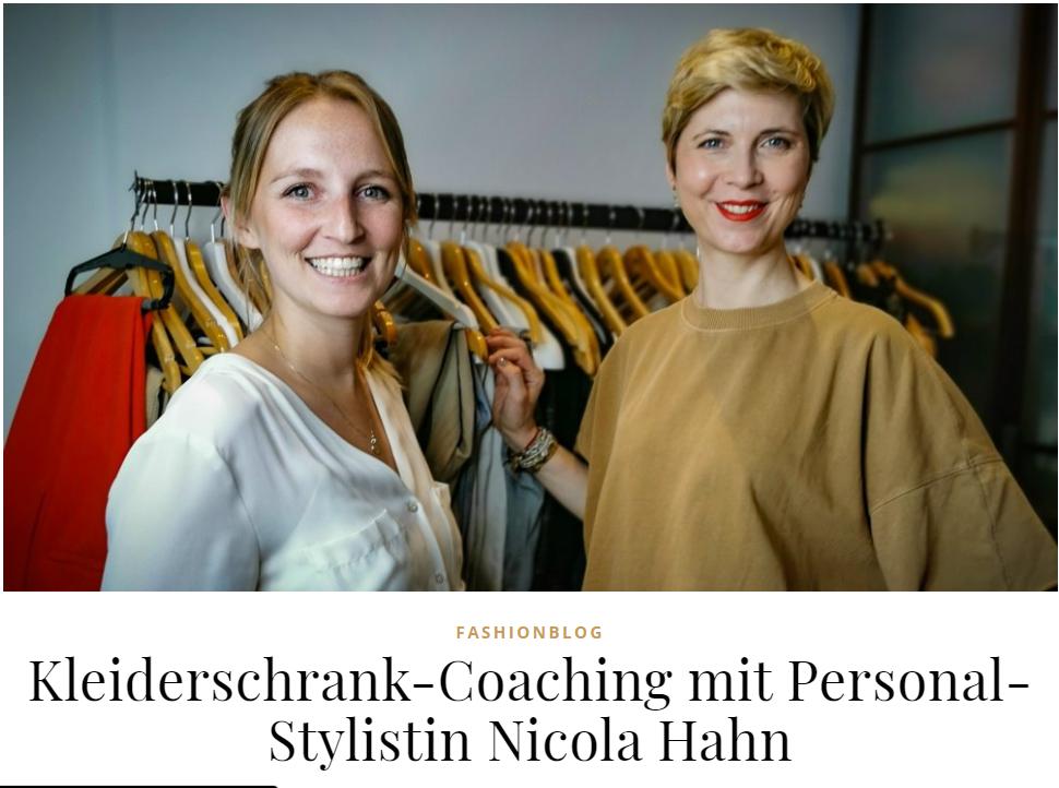 Ü40 Bloggerin Conny Doll beim Kleiderschrank Check mit Nicola Hahn
