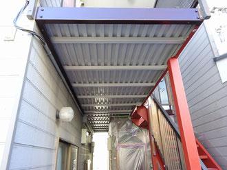 ⑳鉄骨階段の塗装工事