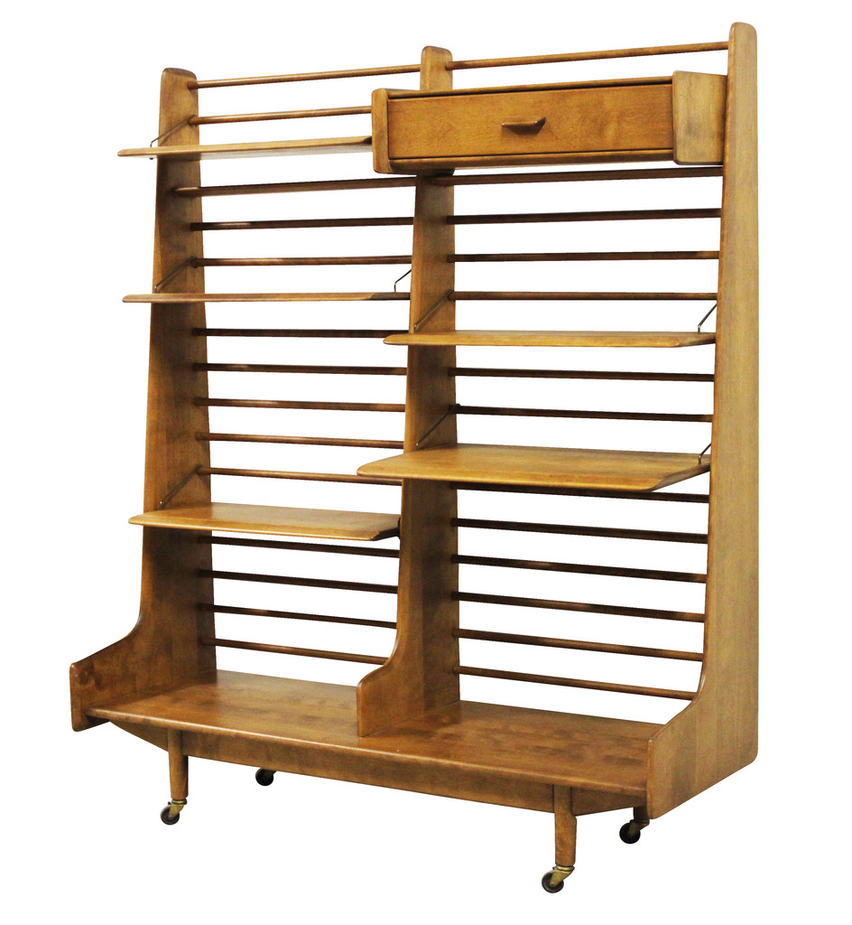 Shelving Unit By Russel Wright Conant Ball   Nueve  Grand Rapids Michiganu0027s  Best Mid Century Modern And Decorator Furniture Store