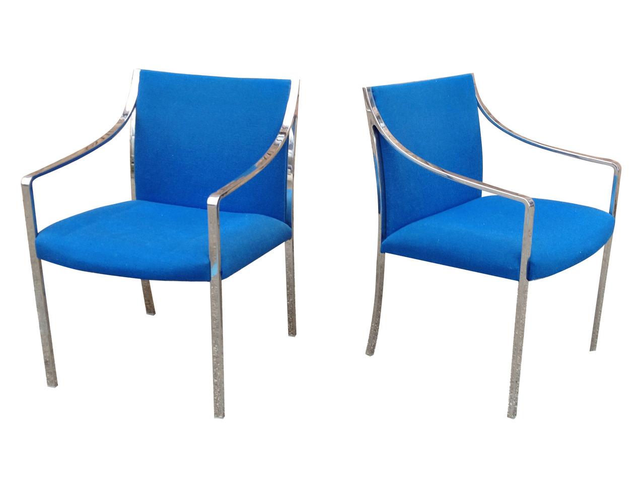 Pair Stow & Davis Chairs by Bert England Nueve Grand