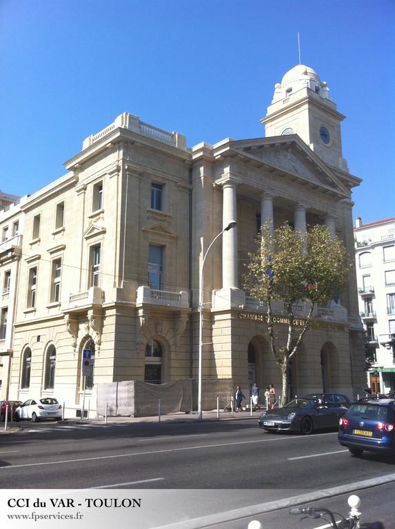 Ravalement des façades de la Chambre de Commerce du Var - Toulon
