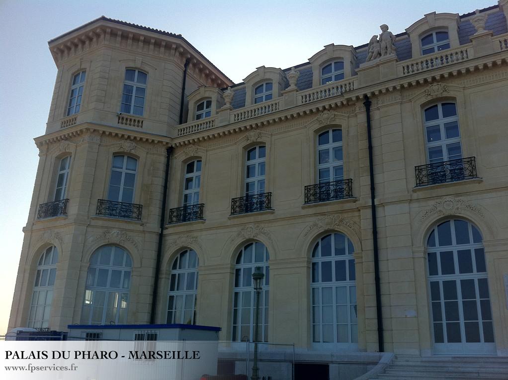 Ravalement des façades du Palais du Pharo de Marseille