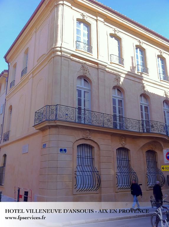 Ravalement des façades de l'hotel Villeneuve d'Ansouis - Aix en Provence