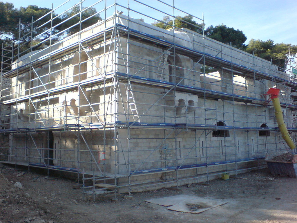 Nettoyage des façades du fortin de corbières - L'Estaque