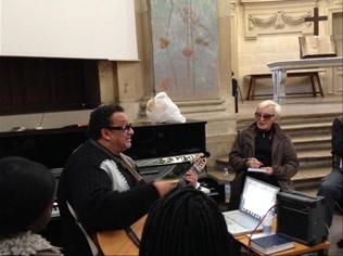 Georges Seba et Nicole Croisille en répétition