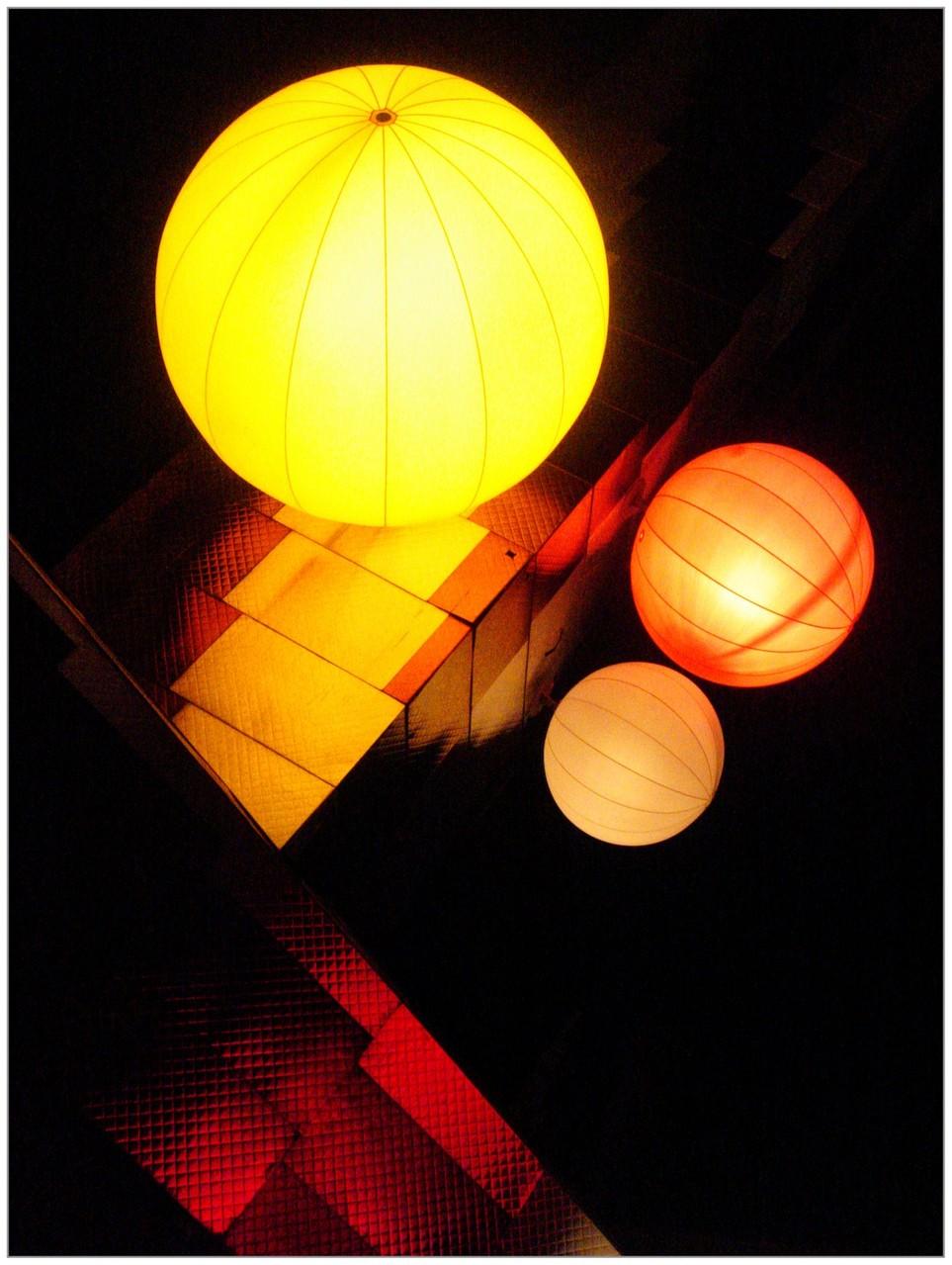 Boules de lumière - photo de Pascale