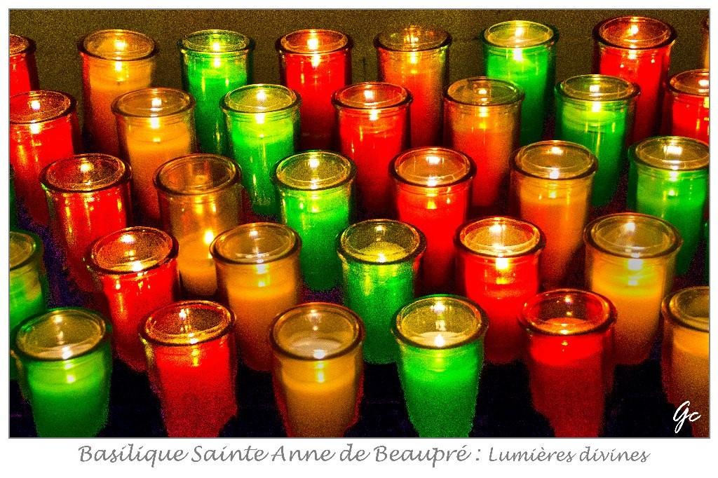 Québec - Saint Anne de Beaupré - lumières divines