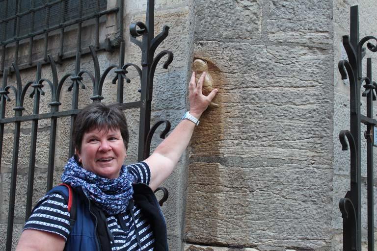 Pascale : Dijon la chouette porte bonheur