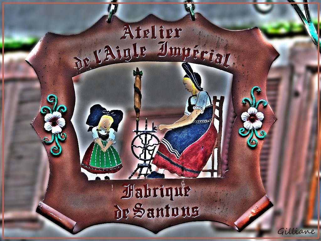 Enseigne fabrique de Santon Alsacienne