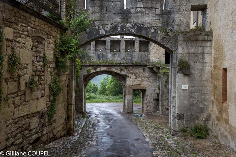 Gilliane : Flavigny, les remparts