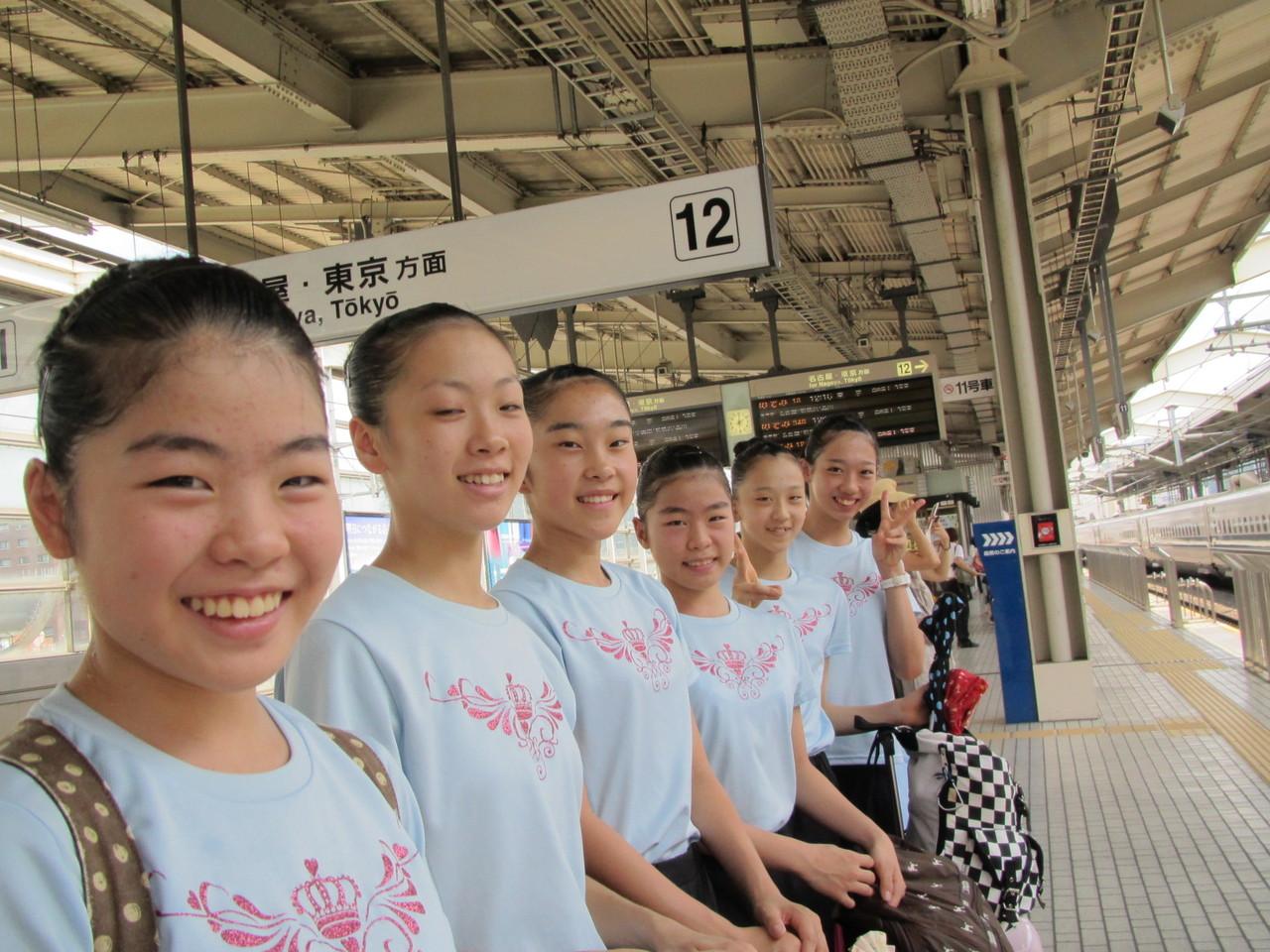 8月19日 東京へ出発 京都駅新幹線ホーム