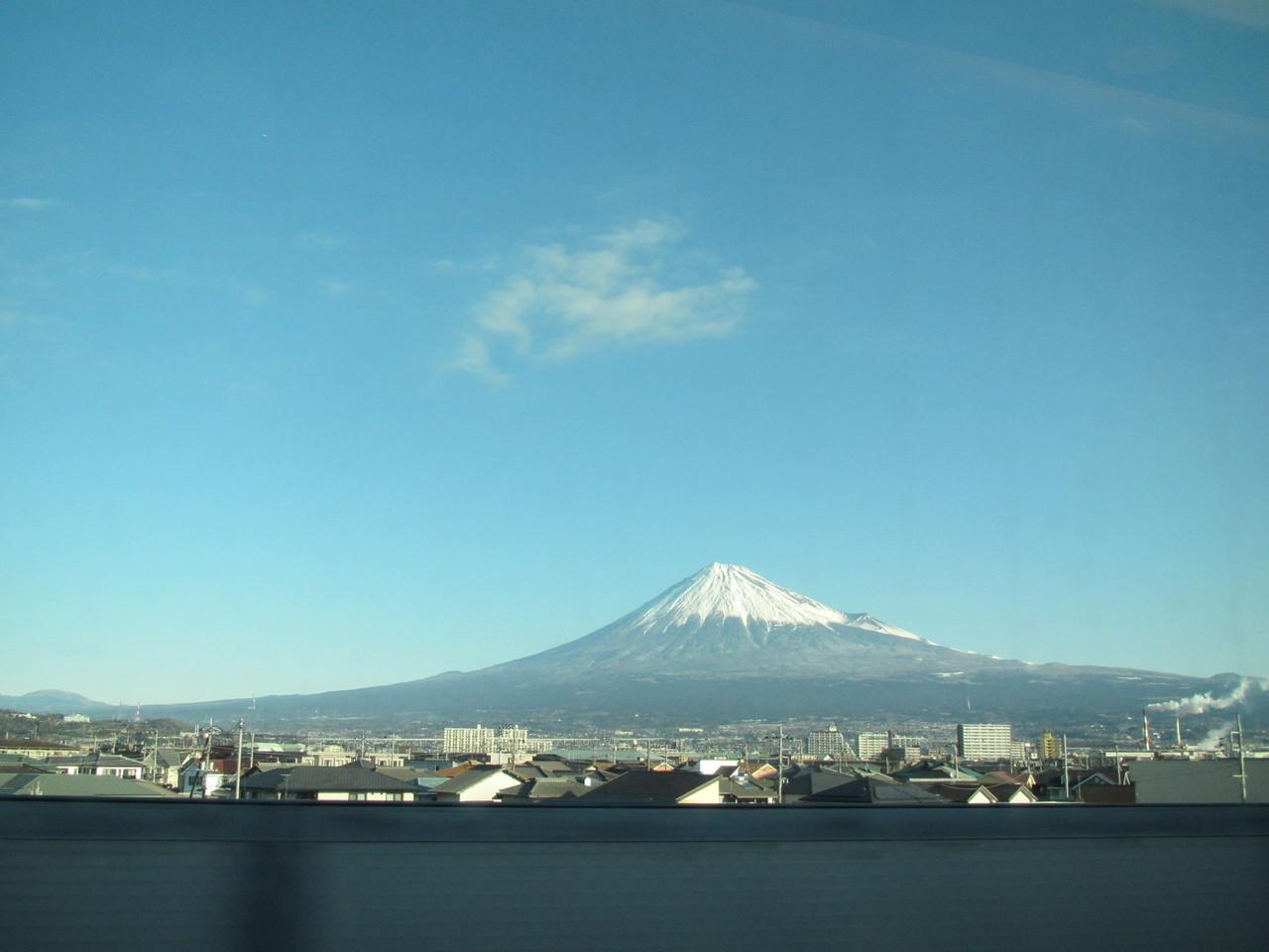 富士山がきれいにみえました。