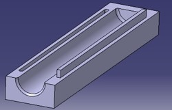 Half shell for soil core storage after sampling, during transport and for safe long term storage