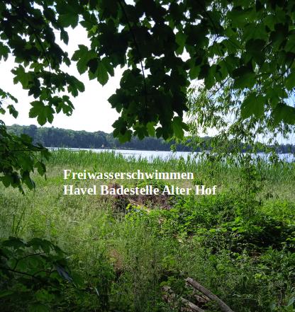 """Freiwasserschwimmen- Havel Badestelle  """"Alter Hof"""""""