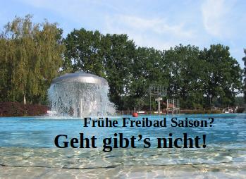Frühere Freibad Saison : Geht gibts nicht für Berliner Bäder