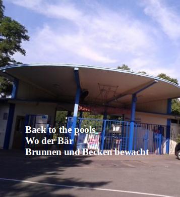 Back to the pools- Wo der Bär Brunnen und Becken bewacht