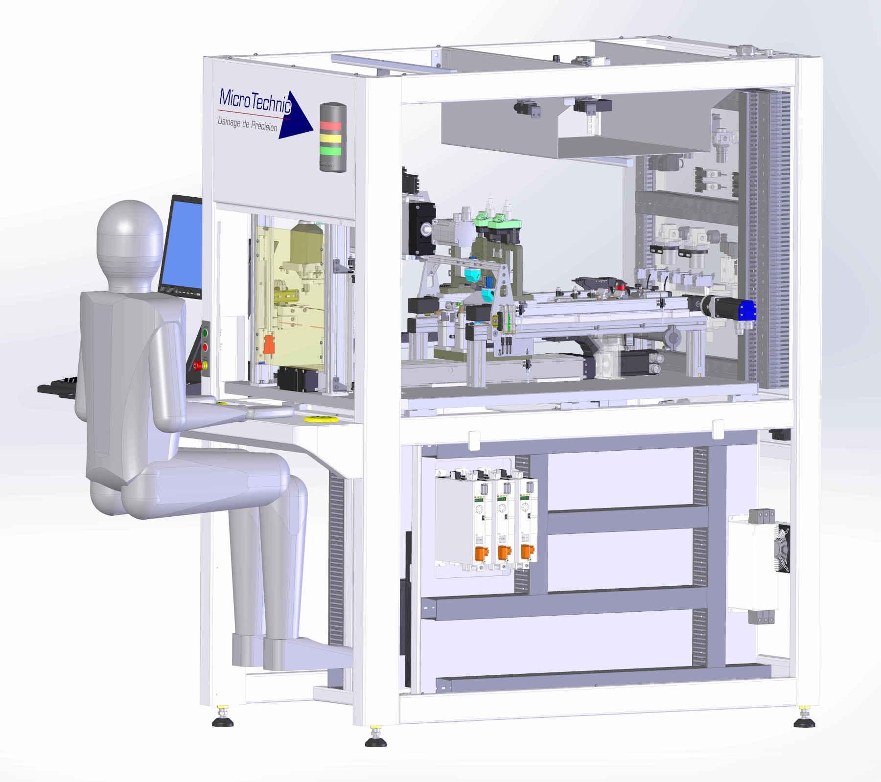 Machine spéciale soudure laser - test He