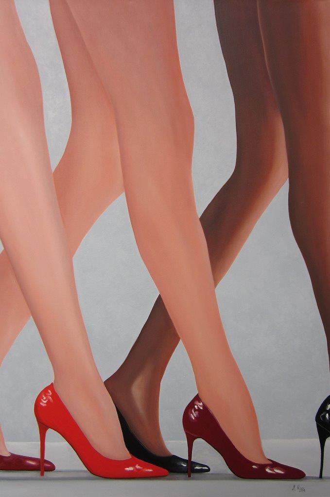 Hot legs, 1,50 m x 1 m, Ölfarbe auf Leinwand