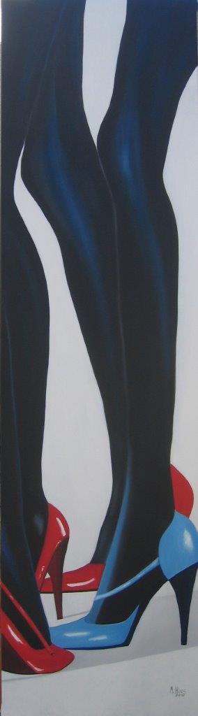 Catwalk 2. 1,80 m x 0,50 m, Ölfarbe auf Leinwand