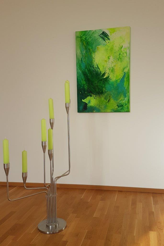 Abstrakte-Kunst-Gruen-Privatraeume-Bueroraeume-120x80cm-Rheingau