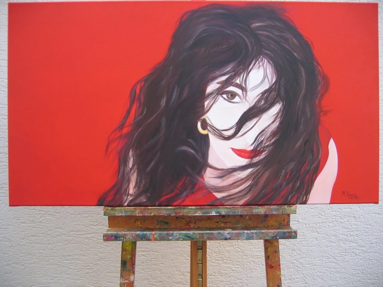 Frau, 2008, 0,60 x 1,10 m, Ölfarbe auf Leinwand