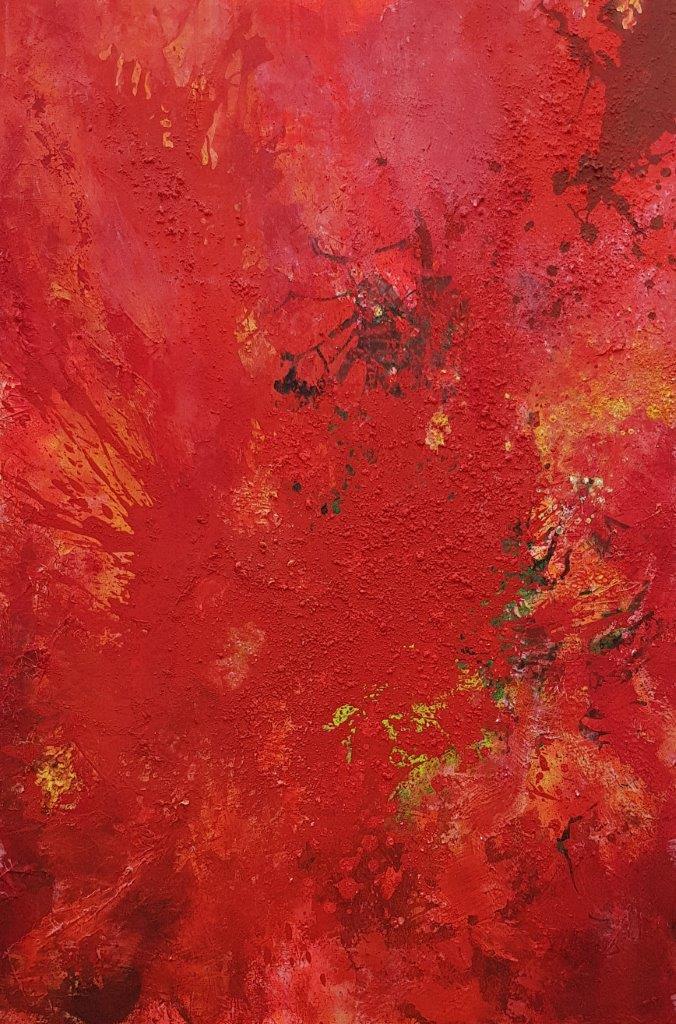 Absolute-Passion2-2017-120x 80cm- Eitempera.Acrylfarbe-auf-Leinwand-Abstrakt-Rheingau