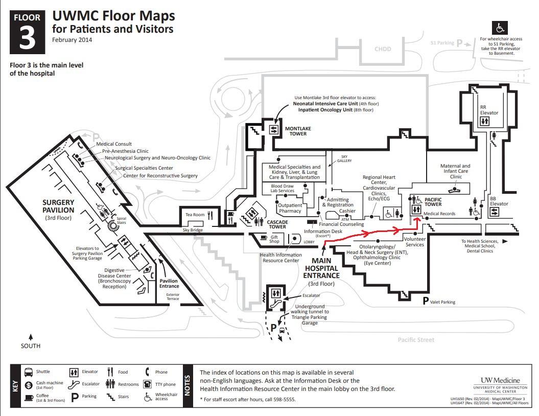 UWMC Floor Map - 3rd Floor