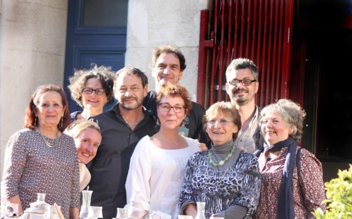 Weekend d'écriture, Jeanne Bastide; Florence Louis, Janou, Jean-Louis, François BLANCHARD, Patricia, Marie-Madeleine, Charango, Anne-Marie Bouron.