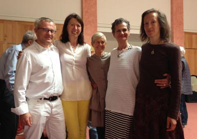 v.l.n.r.: Martin u. Sonja Rotter, Barbara Bingham u. Maya Kollmann und unsere Kollegin Agi