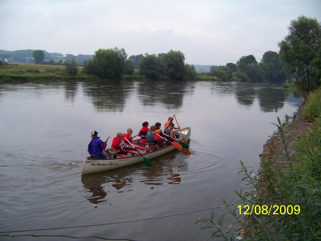 Das erste Boot legt ab