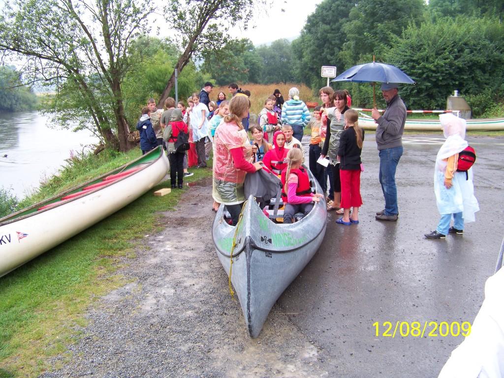 probe sitzen im Kanu