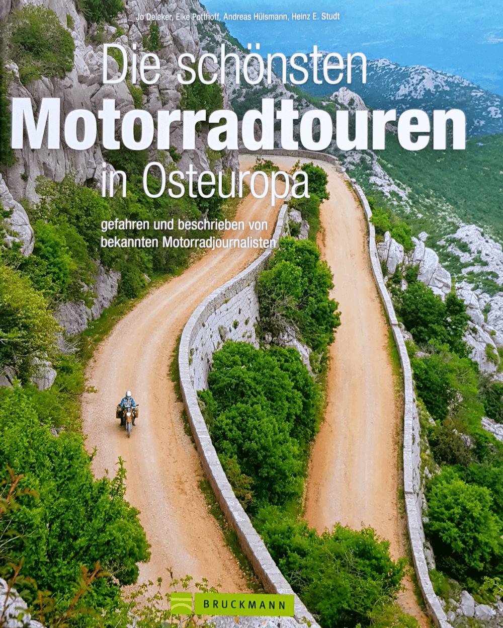 Bruckmann Verlag Buch Motorrad Geheimtipps in Europa mit Beitrag von bikerdream.de