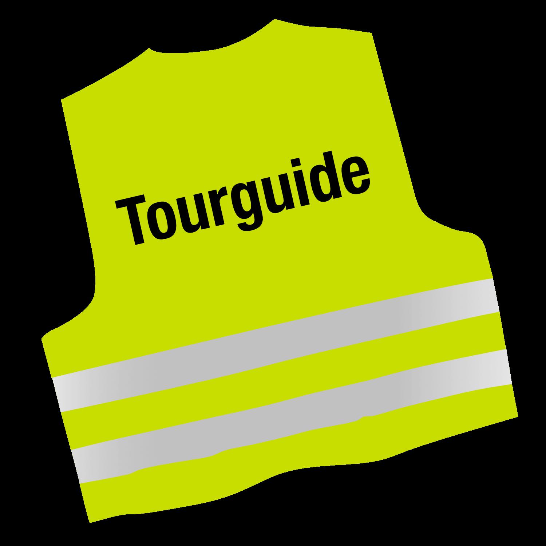 Warnweste mit Text Tourguide