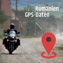 GPS-Daten für Motorrad Reisen in Rumänien zum Planen.