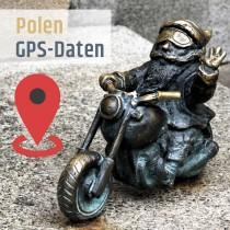 GPS-Daten für Motorrad Reisen in Polen zum Planen.