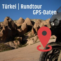 GPS-Daten für Motorrad Reisen in der Türkei zum Planen.
